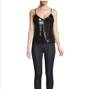RtA sequined cami. Black size M